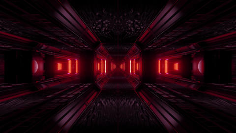 dark space scifi tunnel background with abstract texture background 3d Animation