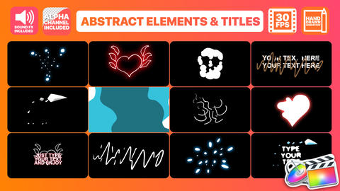 Flash FX Abstract Elements And Titles Apple Motion Template