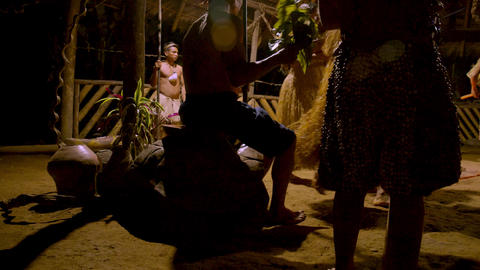 Traditional Indigenous Ceremony In The Jungle By Night In…, Live Action