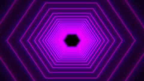 Abstract Purple Futuristic Tunnel Flight animation Animation