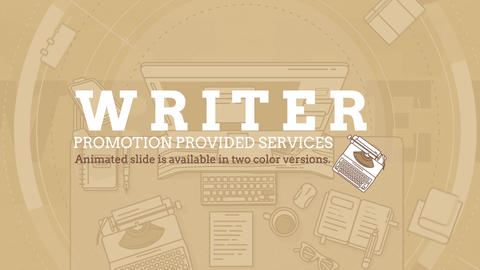 Writer Promo After Effects Template