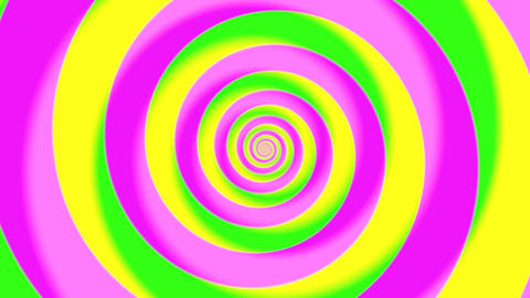Psychedelic swirl motion background, seamless looped background Animation