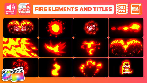 Flame Elements And Titles Apple Motion Template