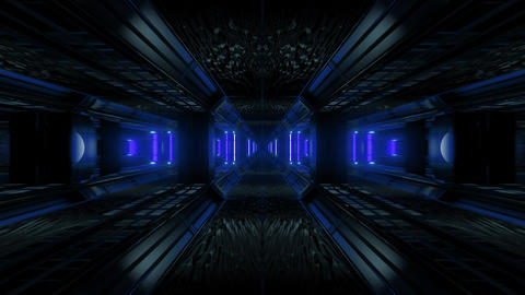 futuristic science-fiction tunnel corridor 3d illustration background wallpaper Animation