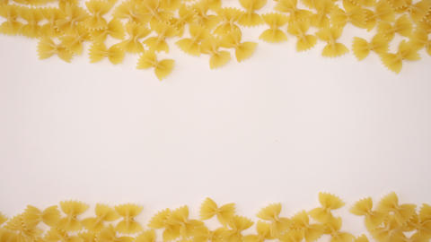 Farfalle on white background - Stop motion animation Animation