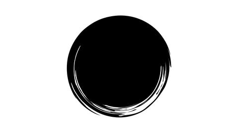 Black circle is drawn on a transparent background Live Action
