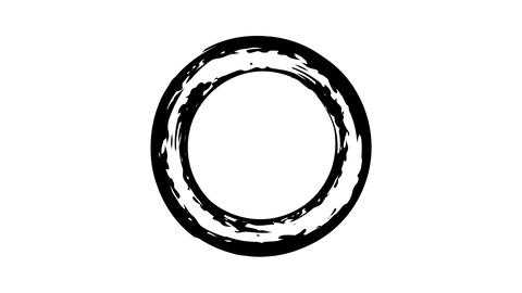 The appearance of the ink circle on a transparent background Live Action
