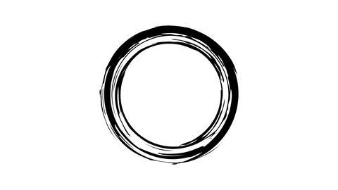 Ink circle on transparent background Live Action