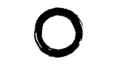 The black circle is resized with a brush Live Action