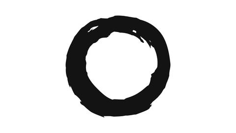 Black circle drawn by paints Live Action