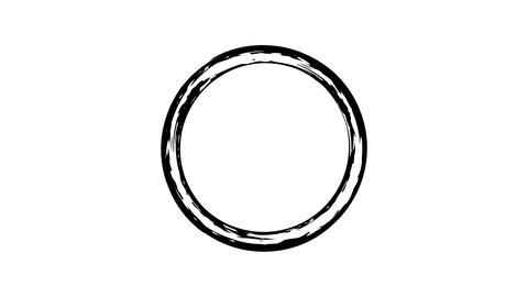 Brush paint circle element set Live Action