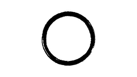 Black round paint mark on alpha channel Live Action