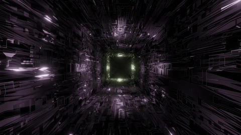 technic technology space tunnel background wallpaper 3d... Stock Video Footage