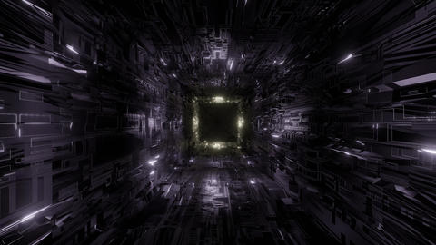 technic technology space tunnel background wallpaper 3d rendering 3d Animation