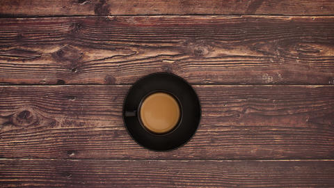 Cup of coffee on the desk - Stop motion animation Animation