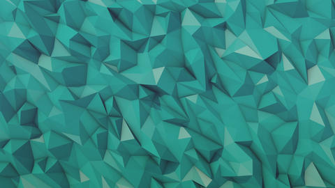 Blue low poly background loop Animation