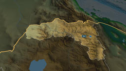 Tigray - state of Ethiopia. Physical Animation