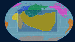 Somaliland - 3D tube zoom (Kavrayskiy VII projection). Continents Animation