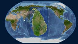 Sri Lanka - 3D tube zoom (Kavrayskiy VII projection). Satellite Animation