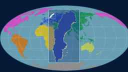 Sweden - 3D tube zoom (Mollweide projection). Continents Animation