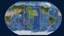 Thailand - 3D tube zoom (Kavrayskiy VII projection). Satellite Animation
