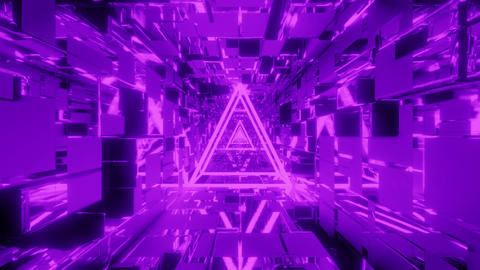 glowing wireframe with scifi space tunnel background 3d rendering 3d Animation