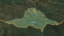 Jihomoravsky - region of Czech Republic. Physical Animation