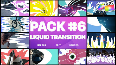 Liquid Transitions Pack 06 Apple Motion Template