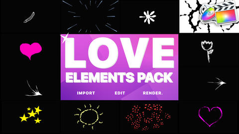 Love Elements Apple Motion Template