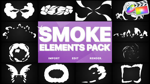 Smoke Elements Pack Apple Motion Template