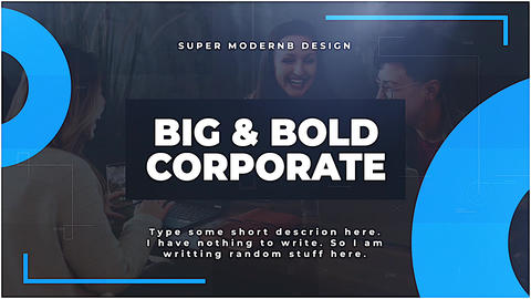 Big & Bold Corporate Apple Motion Template