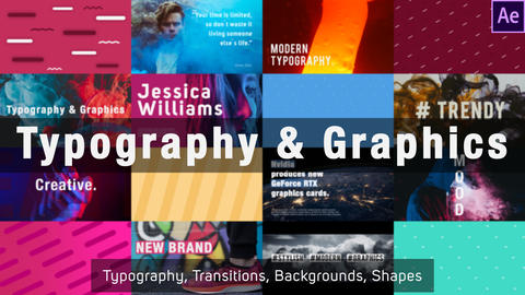 Typography and Graphics After Effects Template