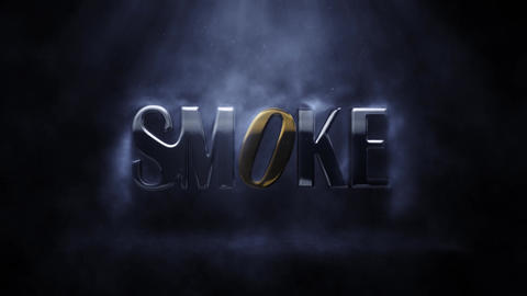 Smoke Logo After Effects Template