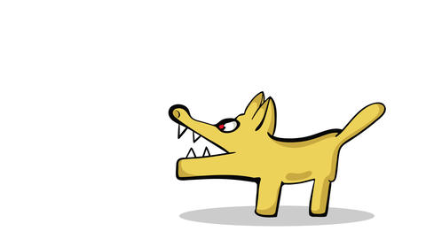 Angry dogs and woof white Animation