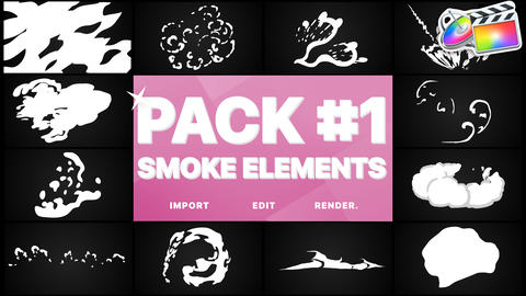 Smoke Elements Pack 01 Apple Motion Template