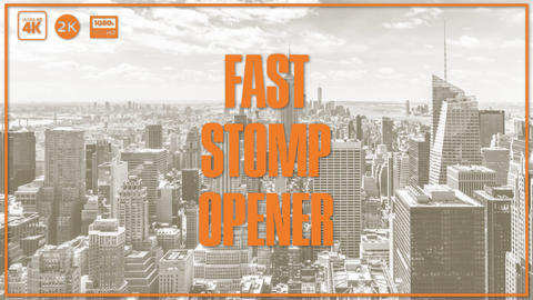 Fast Stomp Opener After Effects Template