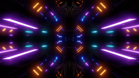futuristic scifi tunnel corridor with texture muster background wallpaper 3d Animation