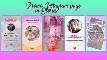 Promo Instagram page in Stories After Effects Template