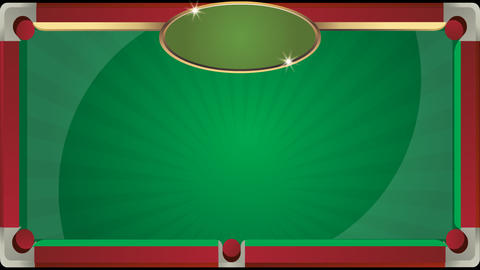 Background of billiard table with animation Live Action