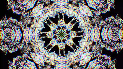 Transforming vintage futuristic elegant iridescent pattern Footage
