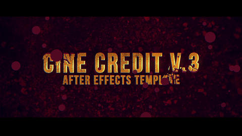 Cine Credit V 3 After Effects Template