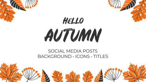 Hello Autumn Hand Drawn Pack Premiere Pro Template