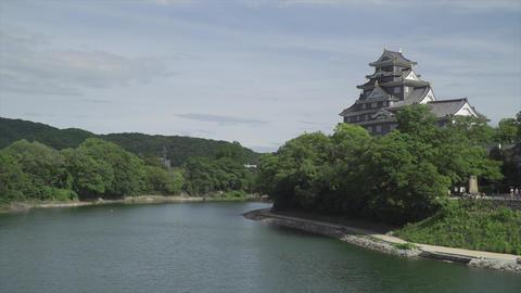 Okayama Castle scenery Live Action