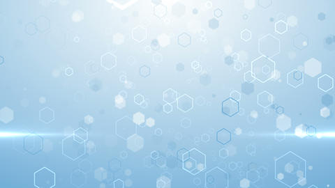 Hex particles medical grid hexagon pattern technology... Stock Video Footage
