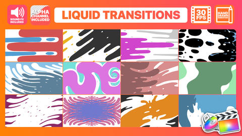 Liquid Motion Transitions Plantilla de Apple Motion