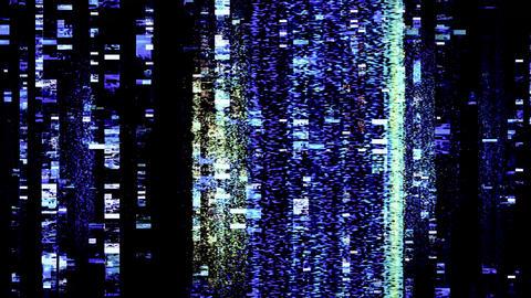 Digital TV Signal Loss Flickers and Shifts Animation