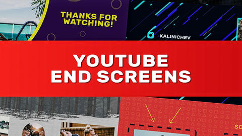 YouTube End Screens After Effects Template
