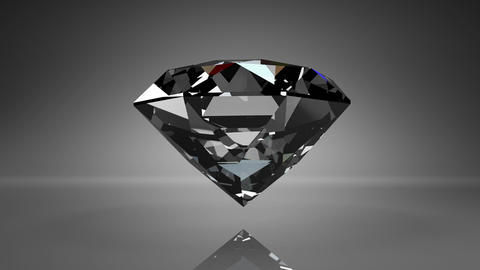 Diamond On Black Background Animation