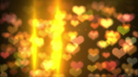 colorful background heart bokeh light HD loopable Animation