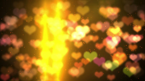 colorful background heart bokeh light HD loopable Stock Video Footage